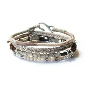 Pulsera de la Tierra de hombre - Winter Weather