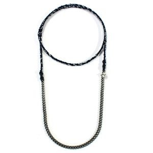 Collar Chain & Cotton - Azul marino