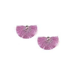 Fan Earrings - Light Purple